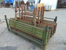 6 x Bedford / Leyland Daf Folding Rear Bench Seats as shown