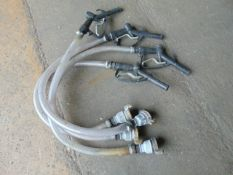 4 x Diesel Gravity Refuelling Hose Kit c/w Nozzle and Valve as Shown