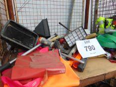 Tools, Ratchet Straps, Search Light etc