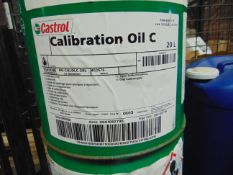 2X 20 LITRES DRUMS OF CASTROL CALIBRATION OIL C