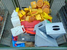 Pallet of various CES items, inc 23 x amber lights, 5 hazard triangles and 5 wheel chocks