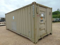 20ft Insulated ISO Container with fork handling positions, twist lock castings etc