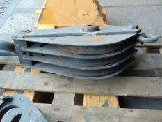 """Triple Pulley Block 2"""" Circ. Wire Rope SWL 15 Ton"""
