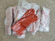 20 x Chemical & Solvent Rednek Red PVC Gauntlet Gloves