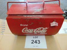 GALVANISED COCA COLA CARRY BOX C/W OPENER AND HANDLE