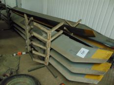 5X SEA KING CARSON TYPE HELICOPTER BLADES IN RACK