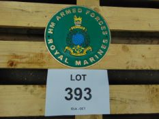 Royal Marines Hand Painted Cast Iron Wall Plaque 24cms Dia