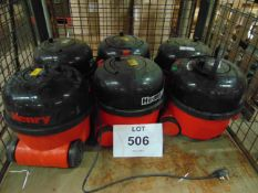 6 x Henry 240 volt Vacuum Cleaners