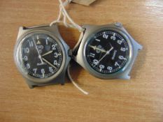 2X CWC 0552 ROYAL MARINES/ NAVY SERVICE WATCHES DATED 1990/1985