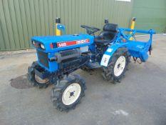 Iseki Model 145 Compact Tractor 4 x 4 c/w Iseki RA 1200 Rotavator 606 hours only