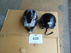 2 x THH Motorcycle Helmets