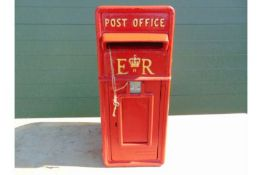 ER Red Post Box ER Red Post Box C/w Keys, collection times, etc