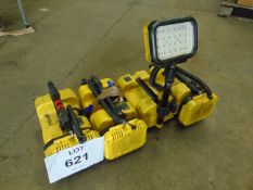 4 x Peli 9430 RALS LED Area Work Lights C/W 1 x Battery Charger