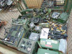1 x Stillage of Clansman radio equipment inc chargers, Head set etc