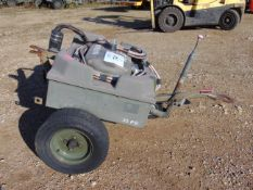 Aircraft Battery Electrical Starter Trolley c/w Batteries and Cables, From RAF
