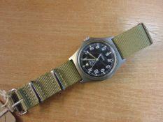 CWC W10 BRITISH ARMY SERVICE WATCH NATO MARKED DATED 1997