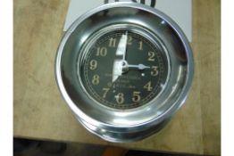 BEAUTIFUL POLISHED ALUMINIUM WW2 MK1 NAVY BOAT CLOCK REPRO