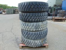 5 x Unused Goodyear G388 12.00 R20 Tyres complete with 8 stud rims