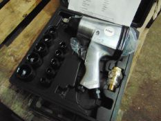 New Unused 1/2 inch Drive Impact Air Wrench with sockets