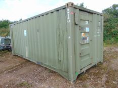 Demountable Front Line Ablution Unit in 20ft Container with hook loader, Twist Locks Etc