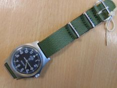 CWC 0552 ROYAL MARINES/ NAVY ISSUE SERVICE WATCH NATO MARKED DATE 1989