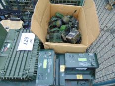 1 x Stillage of Clansman / Bownan etc Radio equipment in chargers Transmitters / Receivers etc