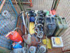 1 x Stillage of Vehicle CES Inc Jerry Cans, Jacks, D Shackles, Shovels etc
