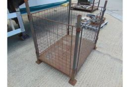 Steel Stacking Stillage with removeable sides and corner posts