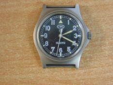 CWC W10 BRITISH ARMY SERVICE WATCH NATO MARKED DATE 1997