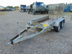 Indespension 2 Tonne Twin Axle Plant Trailer c/w Ramps