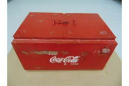 Vintage Coca Cola Double Cooler / Ice Box repro with period bottle opener