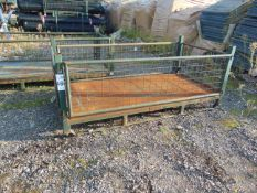 Heavy Duty MoD Stacking Steel Post Stillage with removeable side as shown