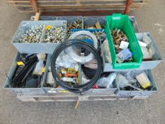 Workshop Eqpt in Steel Boxes Inc Pipe Fittings, Electrical Fittings, Brake Pipes, Nuts, Bolts etc