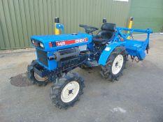 Iseki Model 145 4x4 Compact Tractor c/w Iseki RA 1200 Rotavator ONLY 606 HOURS!