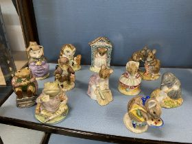 a quantity of Royal Albert and Beswick Beatrix Potter figures (x11 in total) The Christmas Stocking,