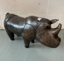 Omersa leather clad rhinoceros footstool/small seat/decorator's piece for Liberty and Co., approx.
