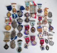 An assortment of Masonic medals/medallions relating to RMBI, RGIG, etc, many hallmarked silver.