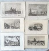 An assortment of 19th century steel engraving relation to Europe, Africa and Asia to include: The