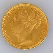 A Victorian gold full sovereign, 1887
