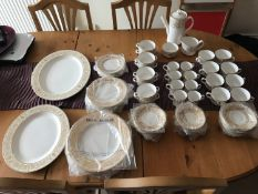 A seventy-seven piece Royal Worcester Hyde Park part dinner, tea and coffee service serving eight,