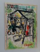 Marc Chagall, Derriere Le Miroir, published in December 1969 for the exhibition of 6 paintings and
