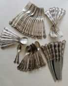 An eighty-six piece mid century part-service of Gorham sterling silver flatware in the Rondo pattern