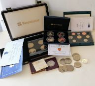 The Westminster boxed Portraits of a Queen Four £5 Coin set; a Diamond Jubilee photographic four