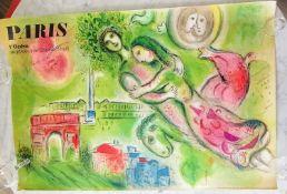 Charles Sorlier (1921-1990), After Marc Chagall, Paris, L'Opera le Plafond de Chagall (1964),