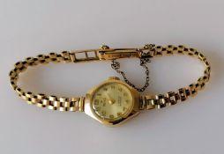 A mid-century ladies 9ct yellow gold-cased Pregimax dress watch, hallmarked, 11.56g, in working
