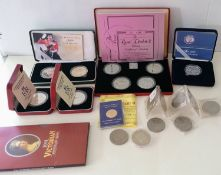 The Royal Mint Queen Elizabeth II Collection 1972-1981, four silver proof crowns, boxed with