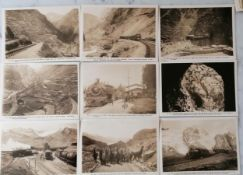 An assortment of photos on cards relating to the Central Railway of Peru, approximately 34, each