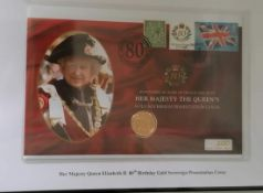 A Westminster 2006 United Kingdom Gold Full Sovereign Presentation Cover HM to commemorate QEII 80th