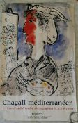Marc Chagall, 'Chagall Méditerrenéen', poster for exhibition of photographs by Bill Wyman, printed
