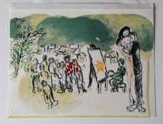 Marc Chagall (1887?1985), HOMAGE A JULIEN CAIN, lithograph, mounted, 18 x 24 cm